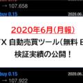 FX自動売買ツール(無料EA) 検証実績の公開!2020年6月(月報)